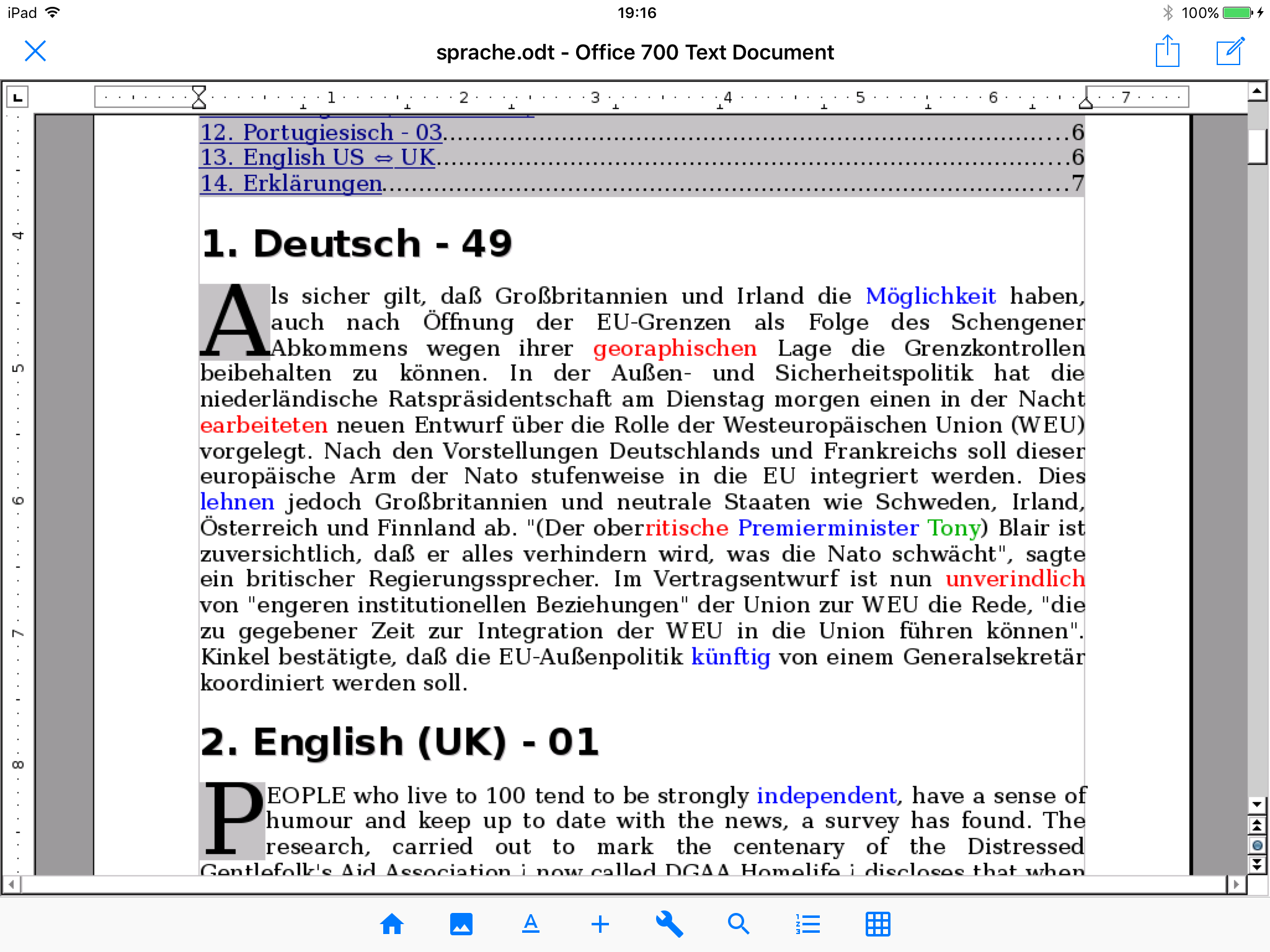 Office 700 - OpenOffice for iOS